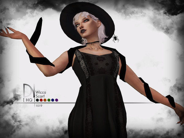 Sims 4 Wicca Scarf by DarkNighTt at TSR