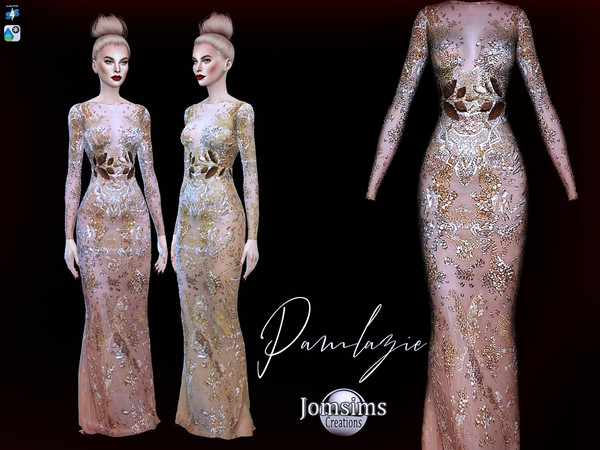 Pamlazie dress by jomsims at TSR image 357 Sims 4 Updates