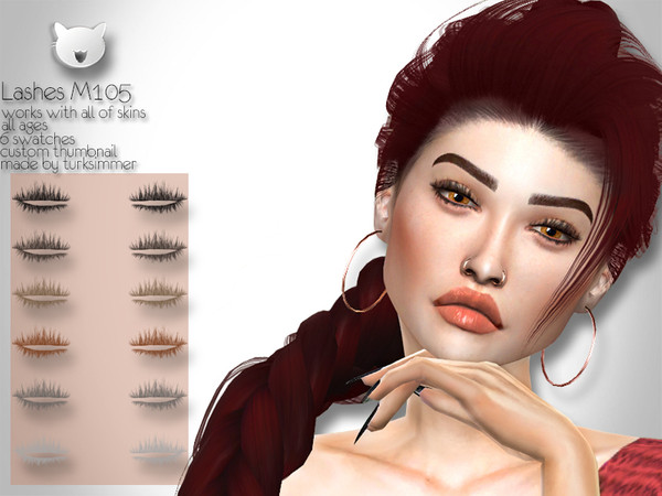 Sims 4 Lashes M105 by turksimmer at TSR