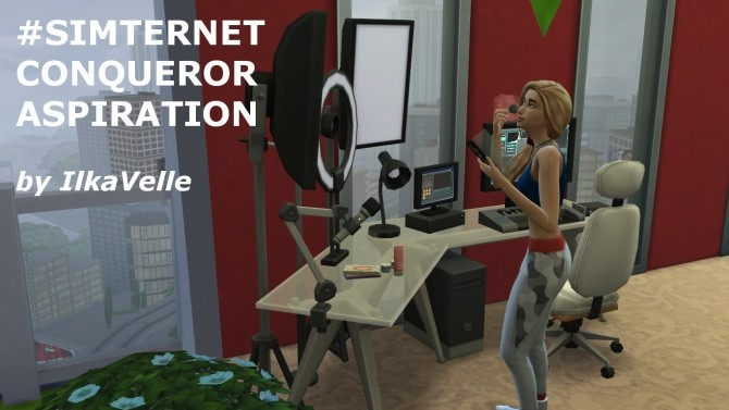 Sims 4 SImternet Conqueror Aspiration by IlkaVelle at Mod The Sims