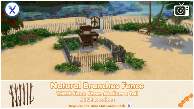 Natural Branches Fence by Bakie at Mod The Sims image 3713 670x377 Sims 4 Updates