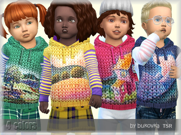 Sims 4 Hoodie Vest by bukovka at TSR