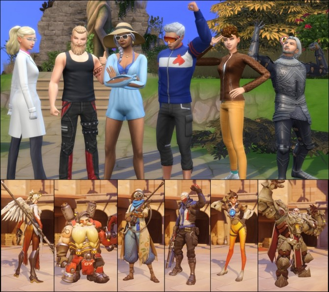 Overwatch Save File by LaLuvi at Mod The Sims image 379 670x595 Sims 4 Updates