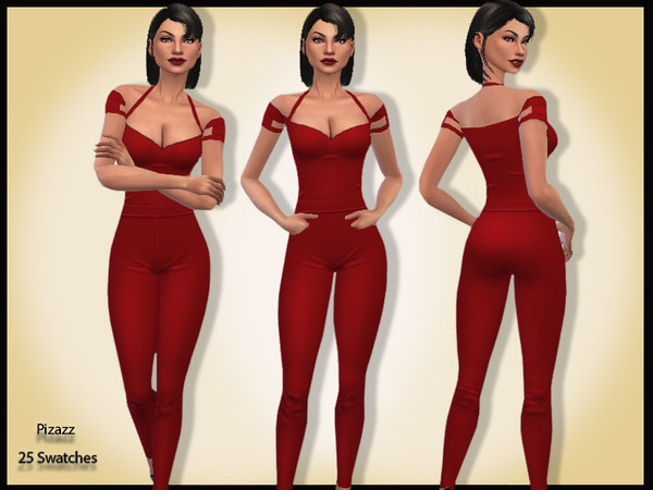 Strappy Jumpsuit by pizazz at TSR image 380 Sims 4 Updates