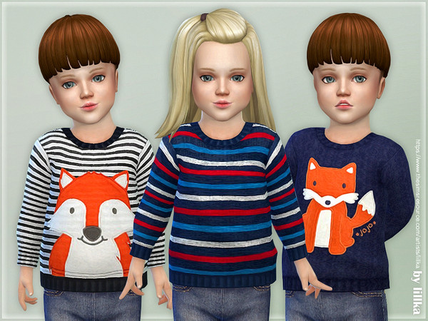 Sims 4 Little Fox Sweater by lillka at TSR