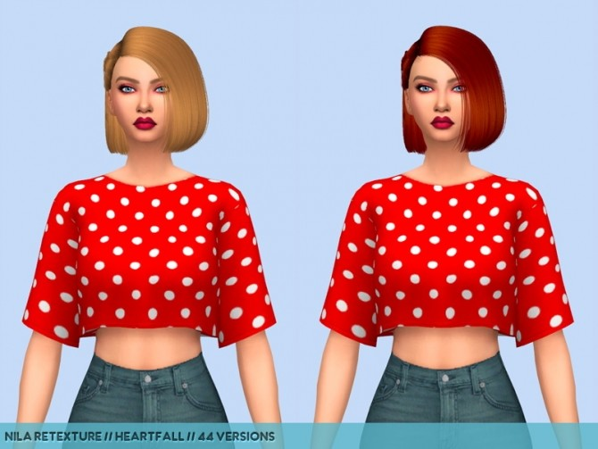 Sims 4 Hair retextures at Heartfall