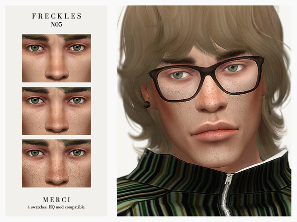 Sims 4 Freckles N05 by Merci at TSR