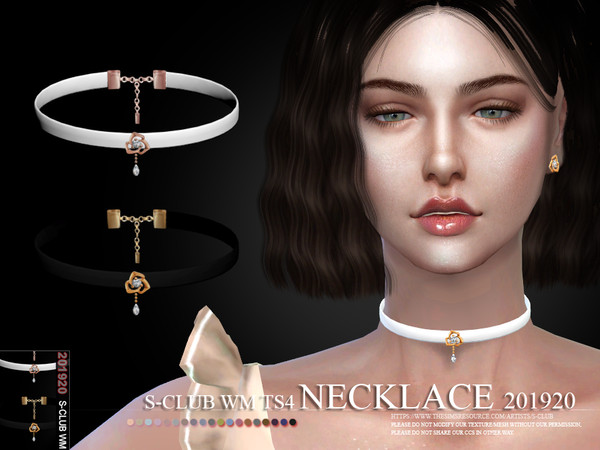 Necklace 201920 by S Club WM at TSR image 4111 Sims 4 Updates