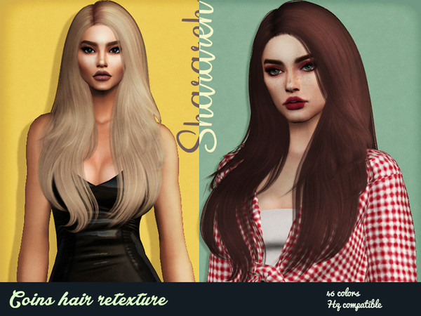 Sims 4 Coins hair retexture by Sharareh at TSR
