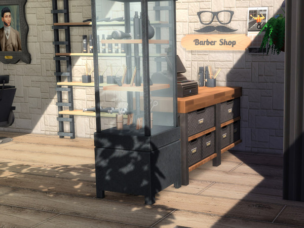 Tommys Barber Shop by MrsJulie at TSR image 414 Sims 4 Updates
