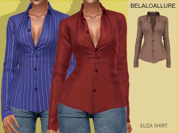 Sims 4 Belaloallure Eliza shirt by belal1997 at TSR