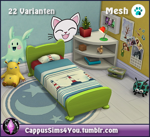 Bed frame Mr. Wuff & Mrs. Miau Toddler at CappusSims4You image 4313 Sims 4 Updates