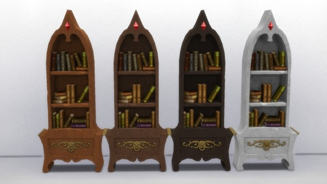 Sims 4 Two Fancy Bookshelves by TheJim07 at Mod The Sims