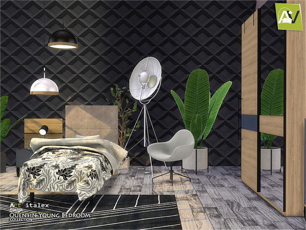 Quentin Young Bedroom by ArtVitalex at TSR image 437 Sims 4 Updates