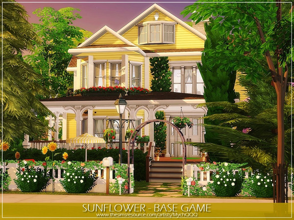 Sims 4 Sunflower house by MychQQQ at TSR