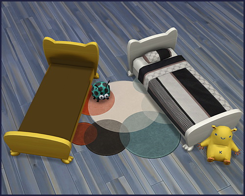 Bed frame Mr. Wuff & Mrs. Miau Toddler at CappusSims4You image 4412 Sims 4 Updates