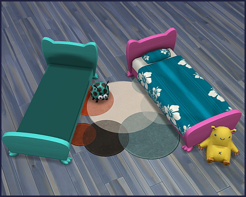 Bed frame Mr. Wuff & Mrs. Miau Toddler at CappusSims4You image 4513 Sims 4 Updates