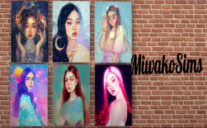 Collection #14 paintings at MiwakoSims image 4711 670x413 Sims 4 Updates