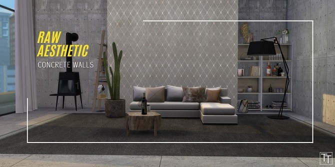 Raw aesthetic concrete walls by Tilly Tiger at Blooming Rosy image 4810 670x334 Sims 4 Updates