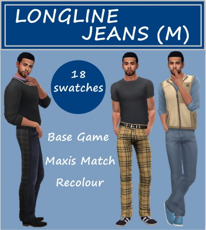 BG LONGLINE JEANS M at Sims4Sue image 4813 670x750 Sims 4 Updates