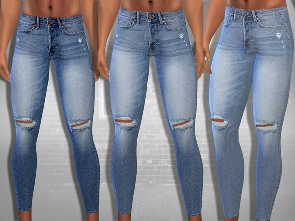 Ripped Skinny Fit Jeans by Saliwa at TSR image 488 Sims 4 Updates