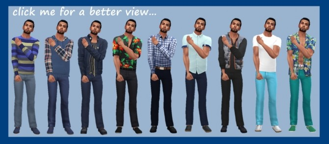 Sims 4 BG LONGLINE JEANS M at Sims4Sue