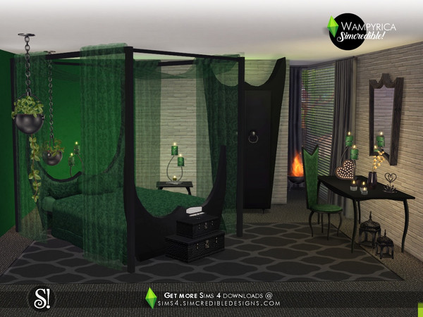 Wampyrica gothic style bedroom by SIMcredible at TSR image 4915 Sims 4 Updates