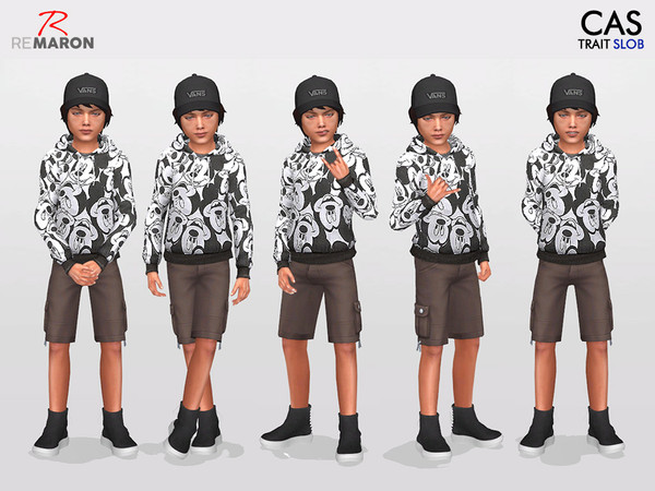 CAS Poses for Kids Set 4 by remaron at TSR image 494 Sims 4 Updates