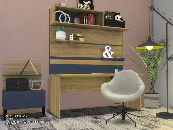 Quentin Young Bedroom by ArtVitalex at TSR image 497 Sims 4 Updates