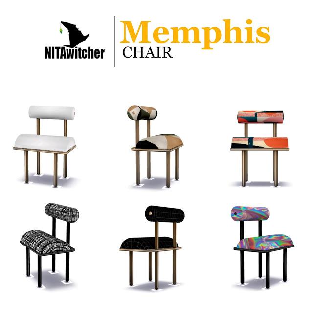 Memphis CHAIR at NITA image 499 Sims 4 Updates