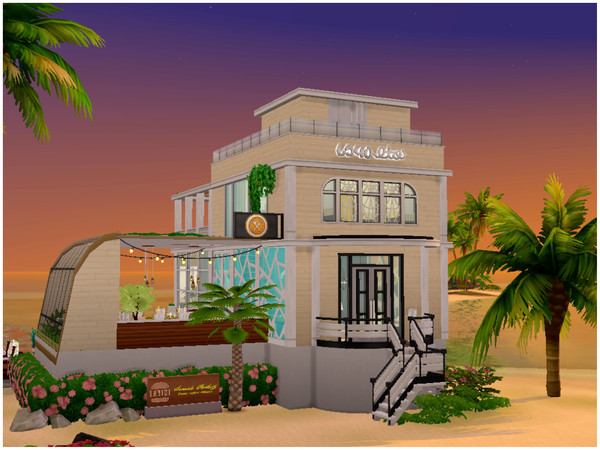 Sims 4 Waterfront Restaurant by Mini Simmer at TSR
