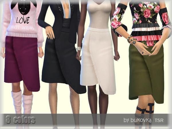 Sims 4 Asymmetric skirt Female by bukovka at TSR