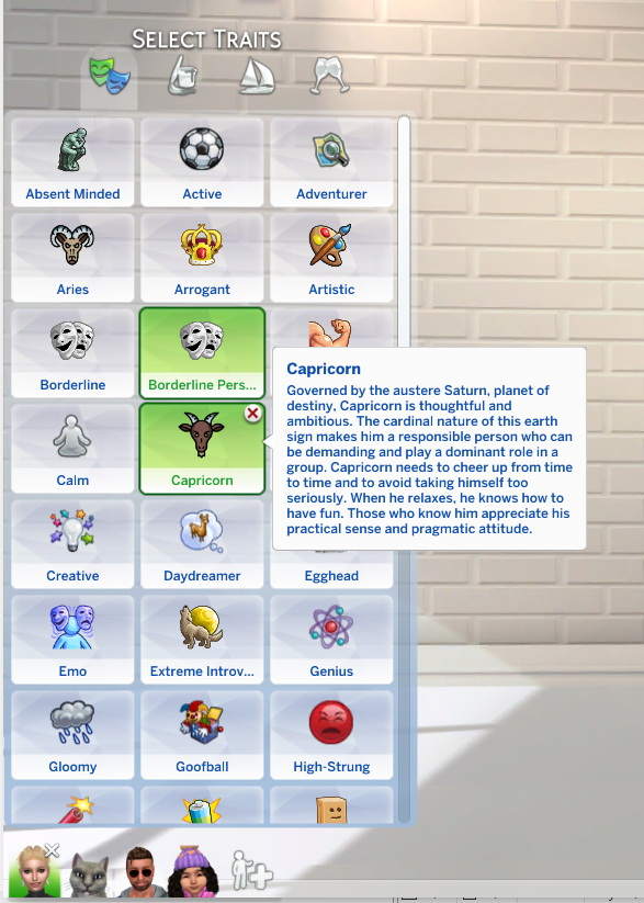 Sims 4 Zodiac Traits by StormyWarrior8 at Mod The Sims