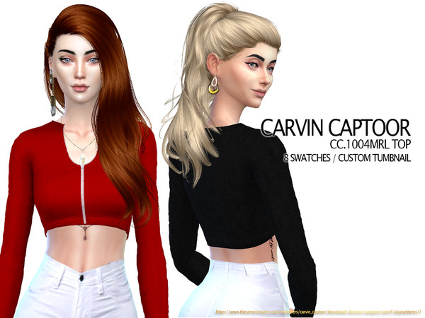 Sims 4 1004MRL Top by carvin captoor at TSR