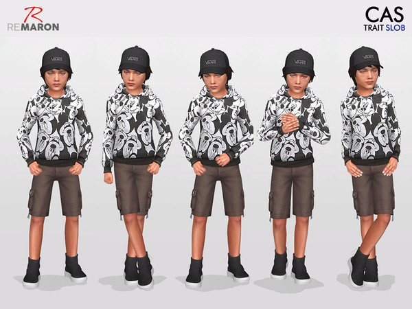 CAS Poses for Kids Set 4 by remaron at TSR image 504 Sims 4 Updates