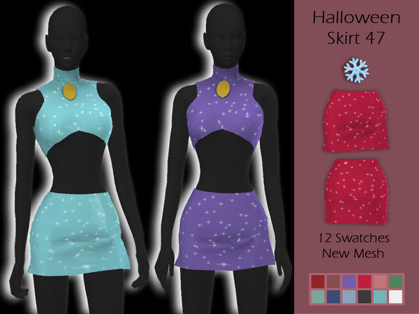 LMCS Halloween Skirt 47 by Lisaminicatsims at TSR image 5101 Sims 4 Updates