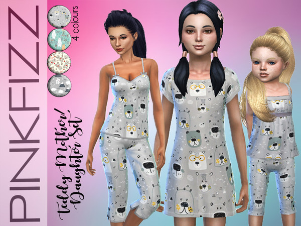 Teddy Mother/Daughter Set by Pinkfizzzzz at TSR image 5102 Sims 4 Updates