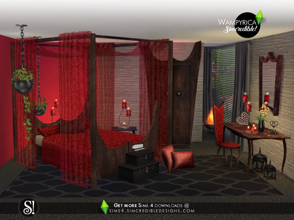 Wampyrica gothic style bedroom by SIMcredible at TSR image 5119 Sims 4 Updates