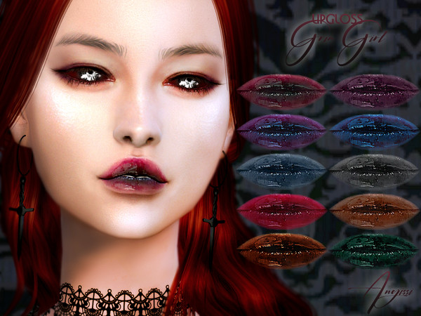 Sims 4 LIPGLOSS Grim Girl by ANGISSI at TSR