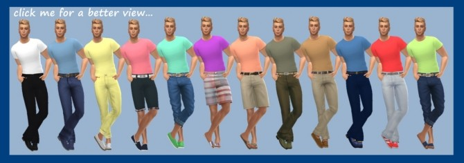 BASE GAME TUCKED TEE M at Sims4Sue image 5215 670x236 Sims 4 Updates