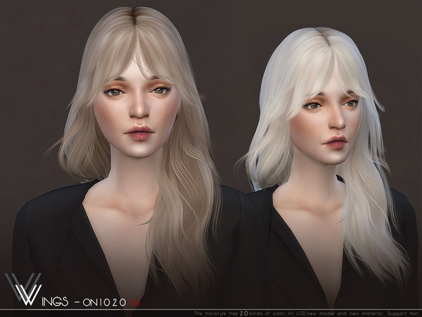 WINGS ON1020 hair by wingssims at TSR image 5216 Sims 4 Updates