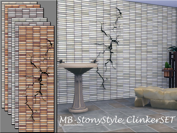Sims 4 MB Stony Style Clinker SET by matomibotaki at TSR