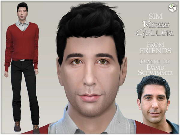 FRIENDS   Ross Geller by BAkalia at TSR image 527 Sims 4 Updates