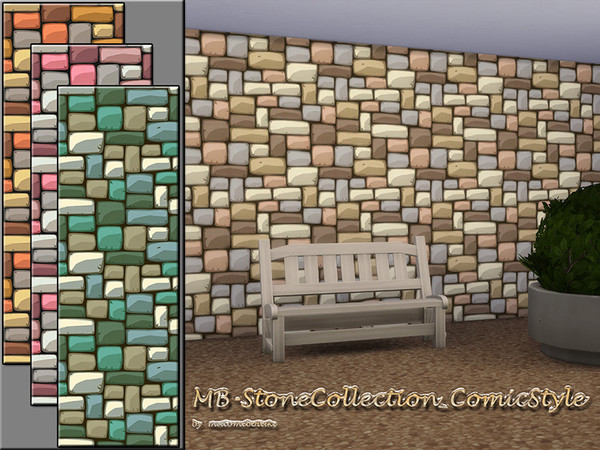 MB Stone Collection Comic Style by matomibotaki at TSR image 530 Sims 4 Updates