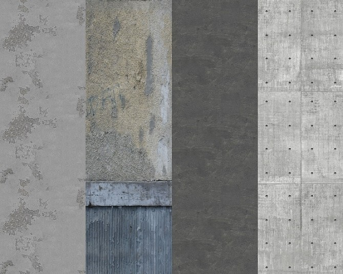 Raw aesthetic concrete walls by Tilly Tiger at Blooming Rosy image 5310 670x534 Sims 4 Updates
