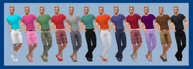 BASE GAME TUCKED TEE M at Sims4Sue image 5314 670x240 Sims 4 Updates