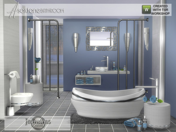 Asoxtane bathroom by jomsims at TSR image 5416 Sims 4 Updates