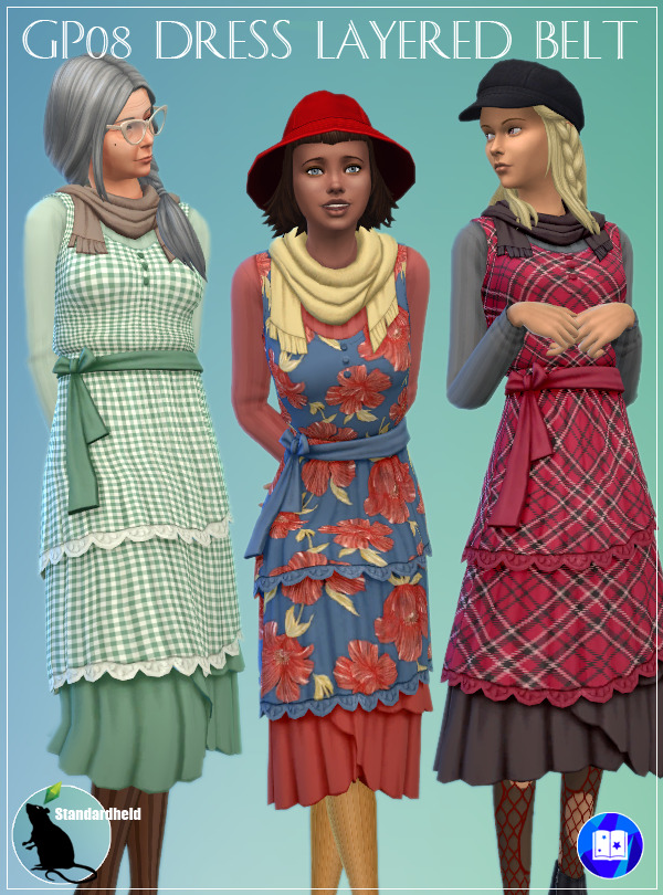 Sims 4 GP08 Dress Layered Belt at Standardheld