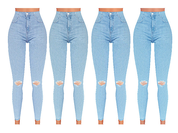 High Waisted Soft Denim Jeans by Pinkzombiecupcakes at TSR image 5515 Sims 4 Updates