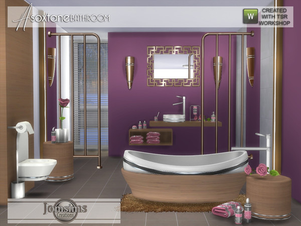 Asoxtane bathroom by jomsims at TSR image 5517 Sims 4 Updates